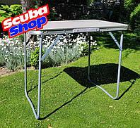 Стол раскладной для пикника 50*70 см (столешница фибралит, нагрузка до 30 кг), фото 1