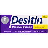 Desitin, Мазь от раздражения кожи под подгузниками, сильнодействующая, 113 г (4 унций),