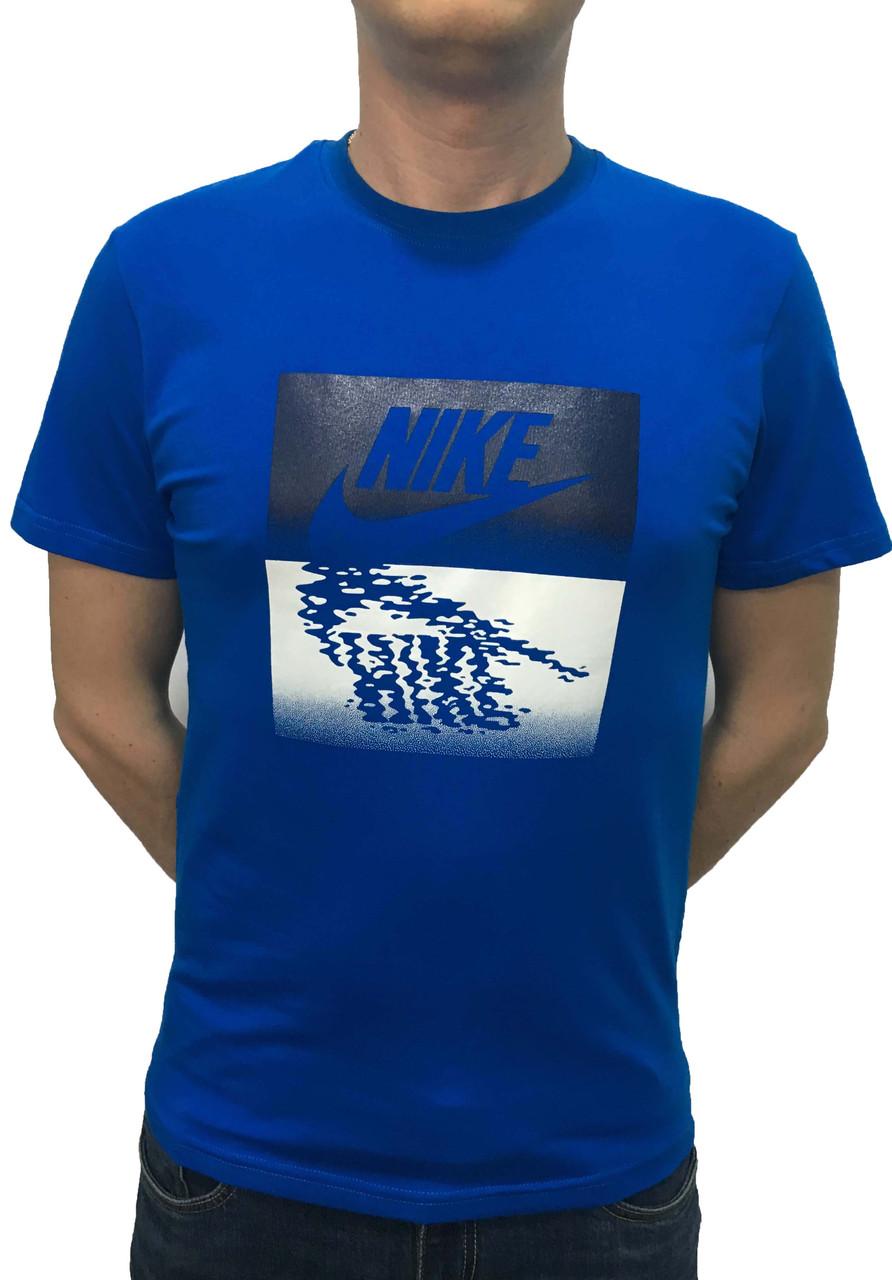 Яркая мужская футболка с принтом котоновая 54 размер (Реплика)