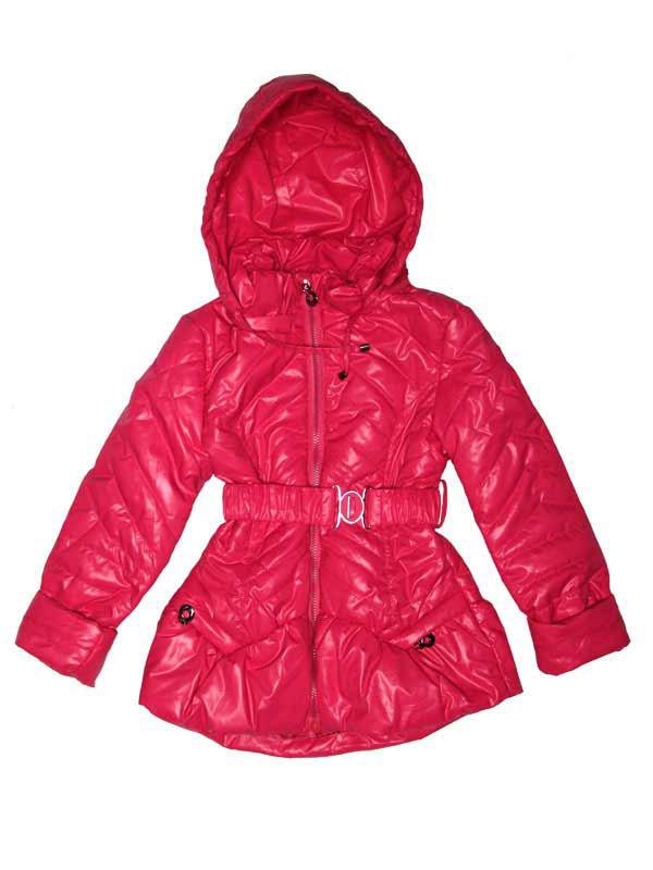 Куртка демисезонная для девочки от 5 до 8 лет малиновая