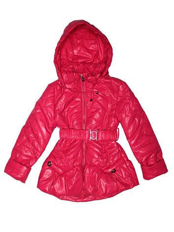 Куртка демисезонная для девочки от 5 до 8 лет малиновая, фото 2