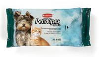 Padovan Pet Wipes Talco 40шт - очищающие влажные салфетки с ароматом талька для собак и кошек