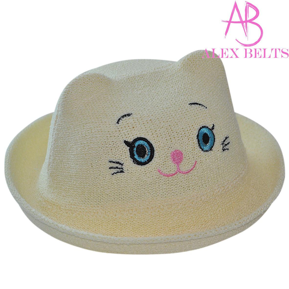 Детская шляпа (желтый) кошечка р. 50-купить оптом в Одессе