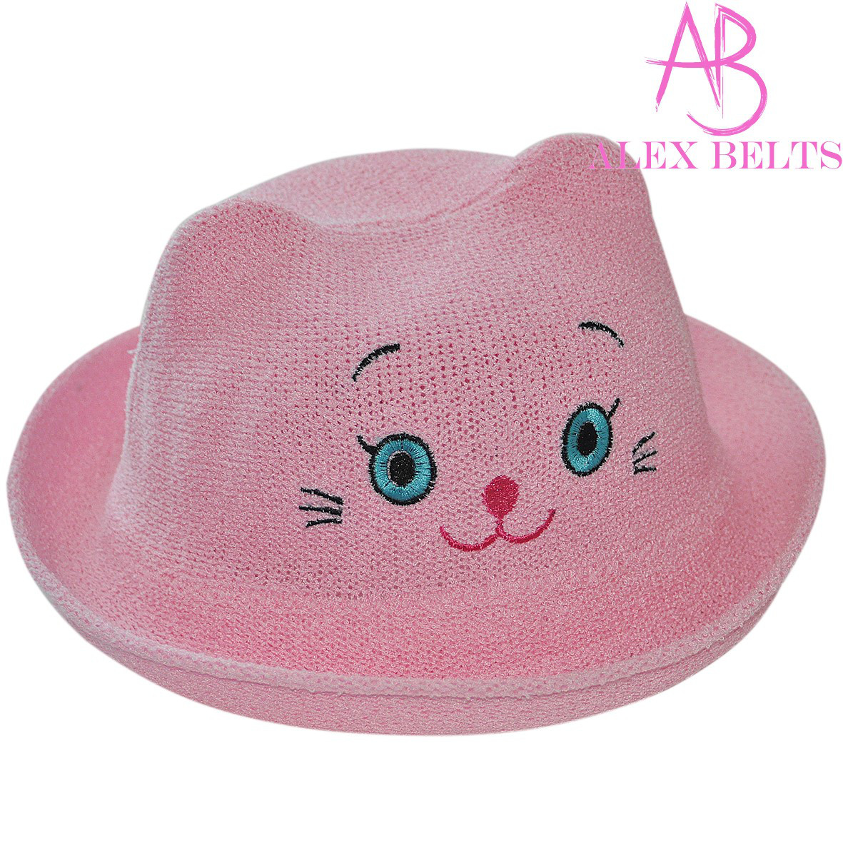 Детская шляпа (розовый) «Кошечка»  |  р. 52-54