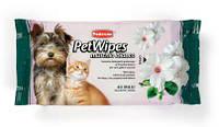 Padovan Pet Wipes Muschio Bianco 40шт - Очищающие влажные салфетки с ароматом белого мускуса для собак кошек