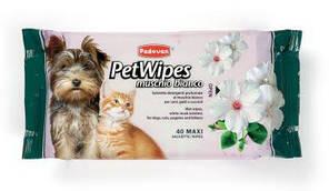 Padovan Pet Wipes Muschio Bianco 40шт - вологі Очищаючі серветки з ароматом білого мускусу для собак, кішок
