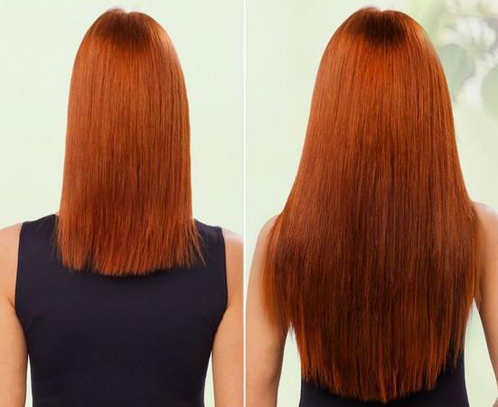 Волосы на заколках искусственные как натуральные 50см №30 рыжий медный