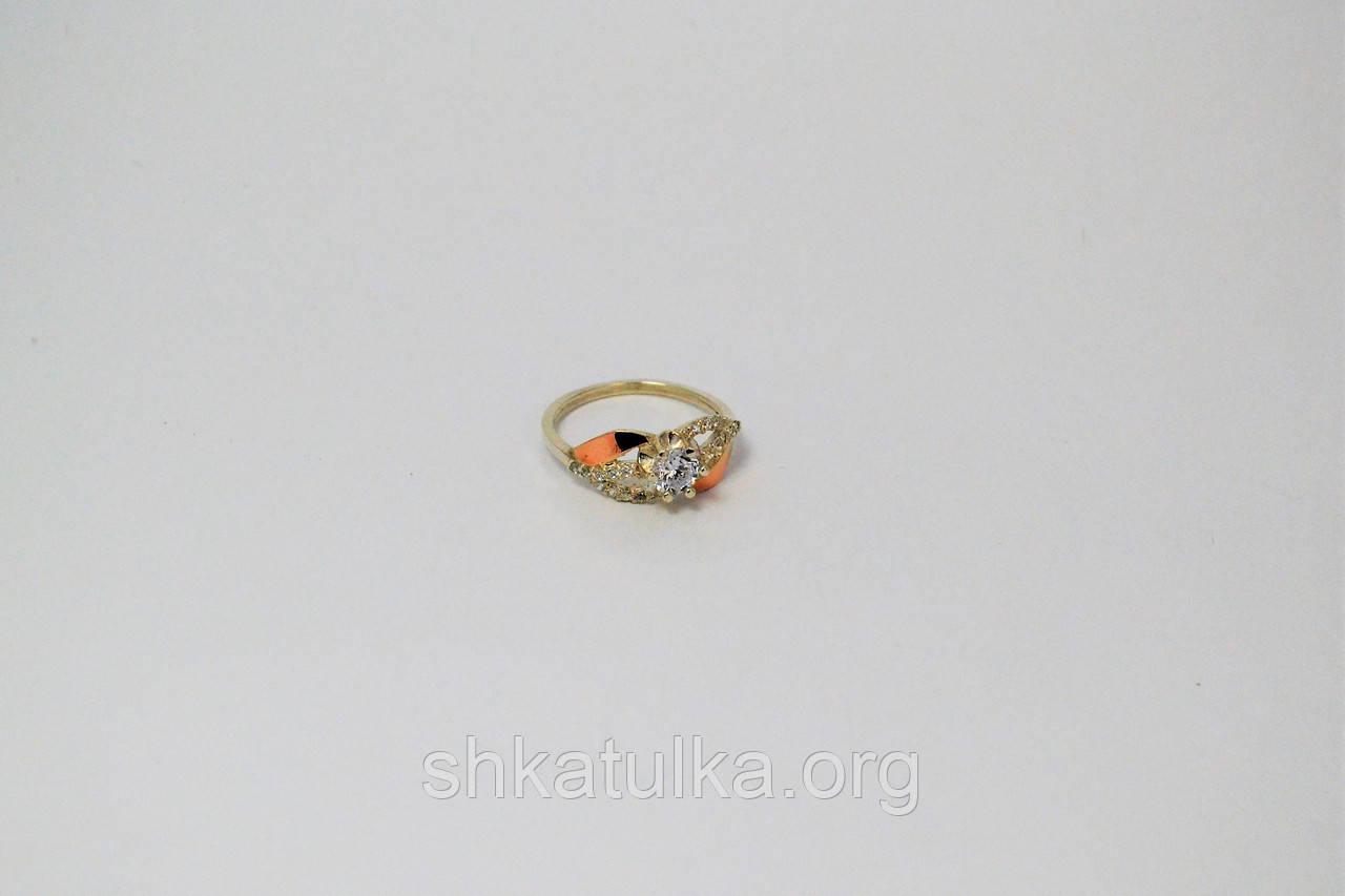 """Серебряное кольцо """"Крокус"""" с золотом"""