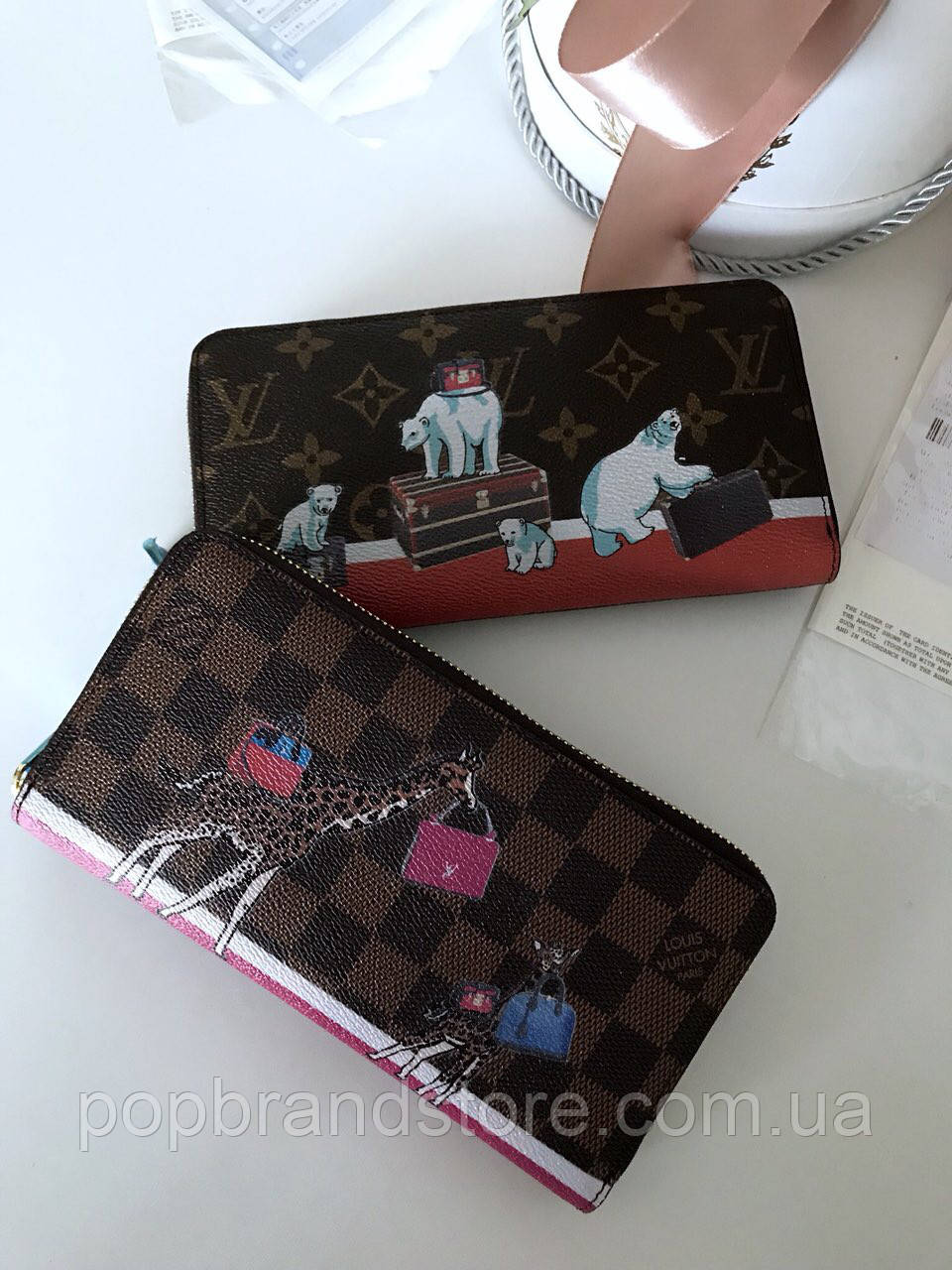 d1a346b1da6b Портмоне LOUIS VUITTON DAMIER CANVAS жираф (реплика) - Pop Brand Store |  брендовые сумки