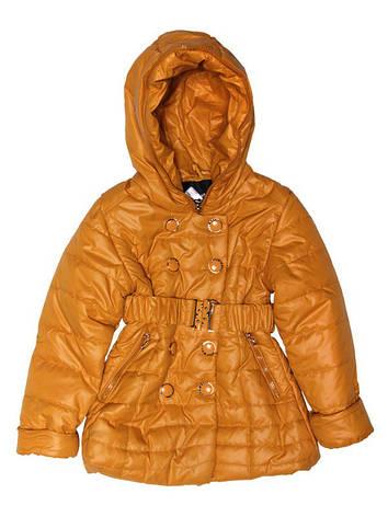 Куртка демисезонная для девочки 4-х лет горчичная, фото 2