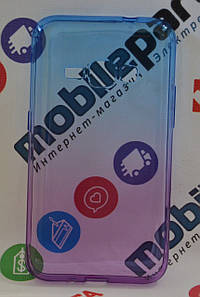 Оригинальный Чехол Силиконовый Gradient для Samsung Galaxy J120 J1 2016 (Фиолетово-голубой)