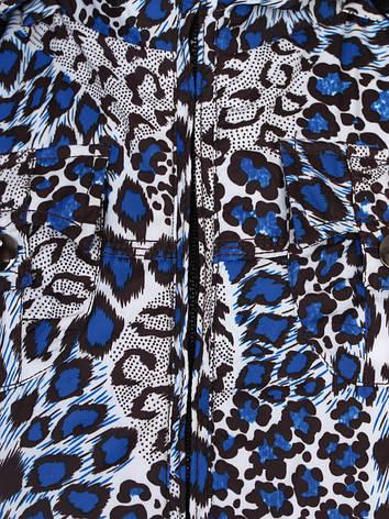 Куртка подростковая демисезонная для девочки от 9 до 12 лет синяя, фото 2