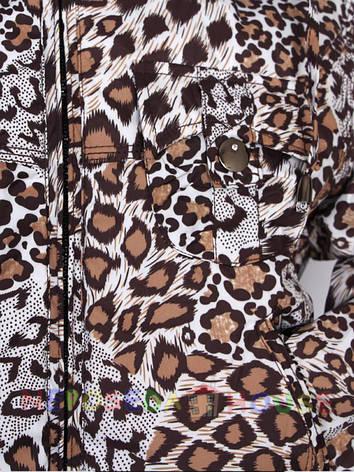 Модная короткая куртка  Gas Denim для девочки подростка с леопардовым принтом, фото 2