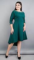 Платье Gloria Romana Лейла. Женское праздничное платье больших размеров. Изумруд.