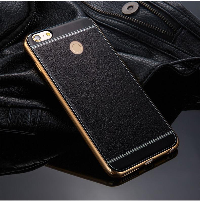 TPU чехол для Xiaomi Redmi Note 5A Prime Имитация кожи (2 Цвета)
