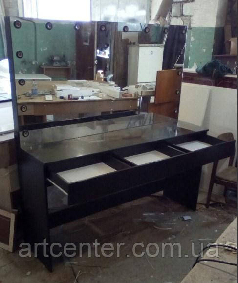 Стол для визажиста с зеркалом, туалетный столик, стол визажный