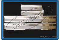Накладки на пороги (4 шт, OmsaLine) BMW 3 серия E-46 1998-2006