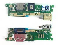 Шлейф для Sony F3212 Xperia XA Ultra Dual Sim/F3215/F3216,с разъемом зарядки, микрофоном, вибро, плата зарядки