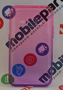 Оригинальный Чехол Силиконовый Gradient для Samsung Galaxy J120 J1 2016 (Фиолетово-розовый)