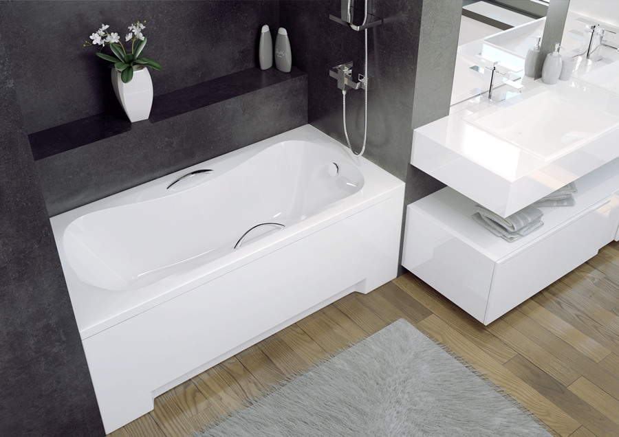 Ванна акриловая ARIA PLUS (130х70) (соло) без ручек и ног / с отверстиями
