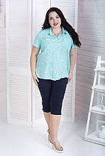 Темно-синие бриджи летние для полных женщин Марлен, фото 3