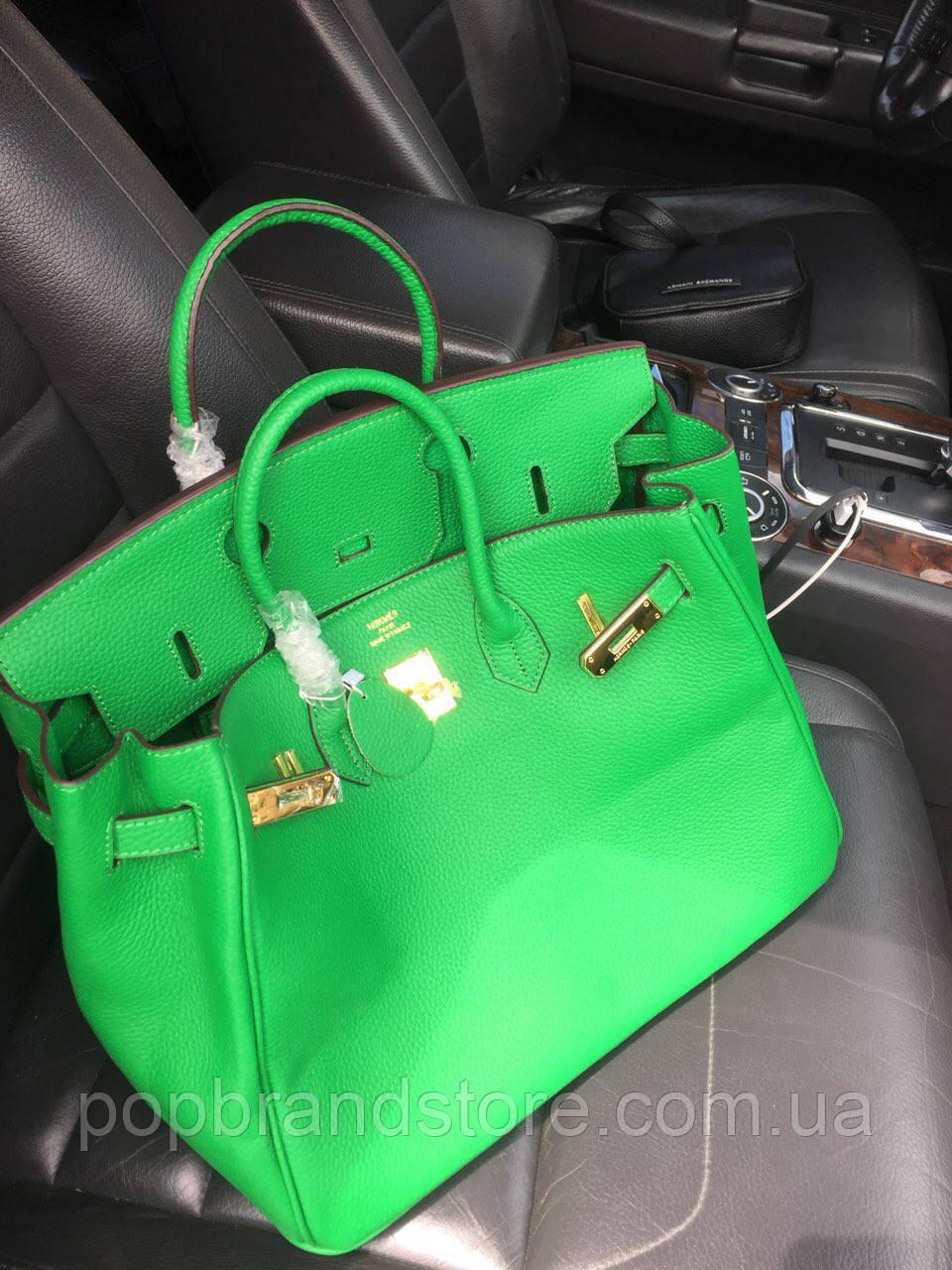 901f212cd986 Роскошная женская сумка Гермес Келли 35 см зеленая (реплика ...
