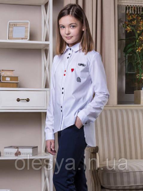 Блуза школьная c нашивками Elen Размер 146