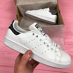 "Женские кроссовки Adidas Stan Smith ""White/Black"" (люкс копия)"