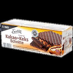 "Вафли Excelsior ""Kakao+Keks Schnitte"" Какао-Кекс 250г"