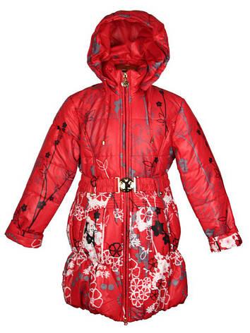 Детский весенний плащик  для девочки 116-140 рост New Soon красный, фото 2