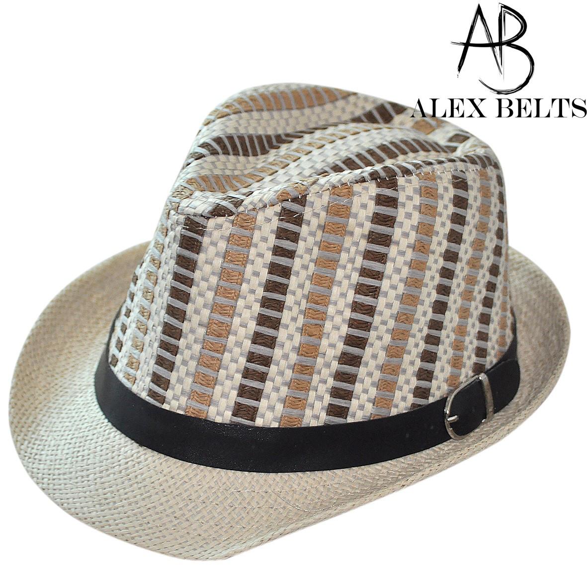 Шляпа соломенная  подросток с черным пояском унисекс р. 52-54 см -купить оптом в Одессе