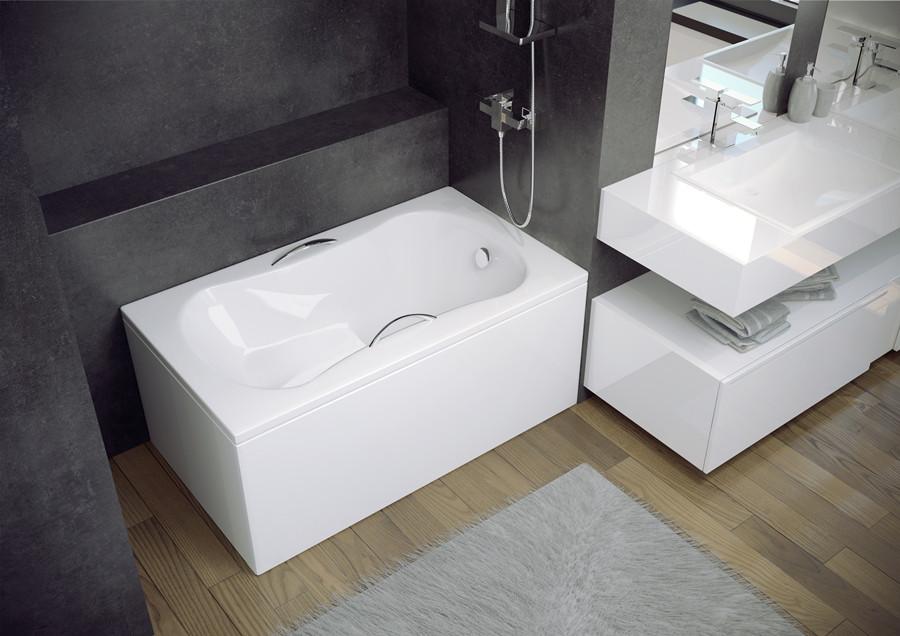 Ванна акриловая ARIA REHAB (120х70) без панели и ножек / с отверстиями под ручки
