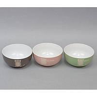 """Пиала керамическая для кухни """"Сова"""" CB004, размер 7х13 см, объем 520 мл, 5 видов, тарелка для продуктов, тарелка на кухню, кухонная пиалка"""