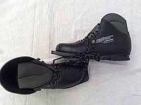"""Классические беговые лыжные ботинки """"Motor Сlassic"""" из натуральной кожи на подошве 0075Н. Размер 45 ."""