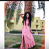 Платье сарафан на пуговичках длинное мята белый розовый 83 ДП