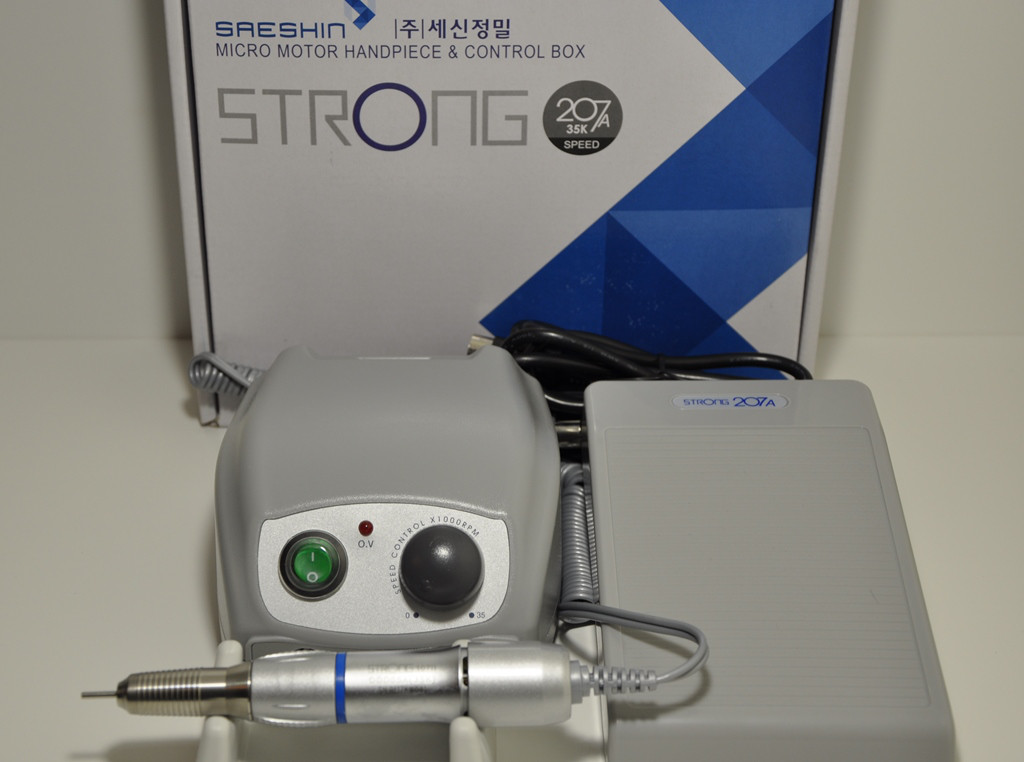 Фрезер для маникюра и педикюра Strong 207A/107II, 35 000 об/мин. Мощность - 105 Вт. Гарантия 1 год., фото 1
