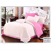 Прекрасное белье постельное двухцветное евро 7070015