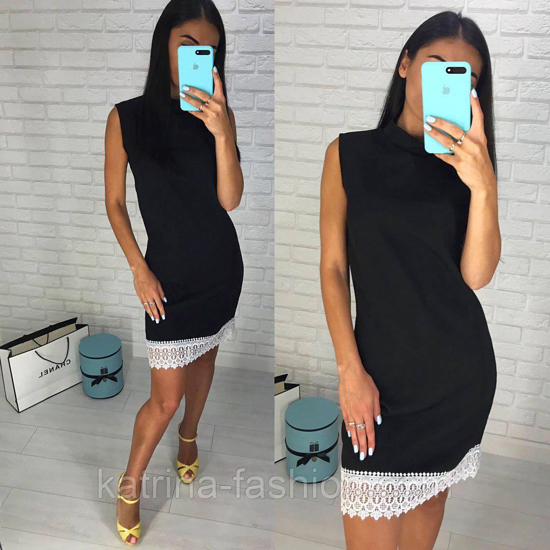 ff9875e5fbb Женское красивое прямое платье с кружевом (5 цветов)  продажа