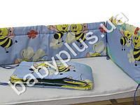 Мягкий бортик Пчелка, поликоттон 30 см 30097