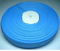 Лента репсовая голубая с рисунком звездочки