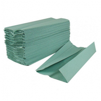 Паперовий рушник типу V зелене