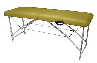 """Массажный стол Ukrestet """"Premium"""", складной, двухсекционный, оливковый"""