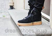 Кроссовки мужские Nike Air Force High Coal Black, 39