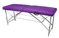 """Массажный стол Ukrestet """"Premium"""", складной, двухсекционный, фиолетовый"""