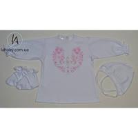 Крестильный комплект с рубашечкой для девочки