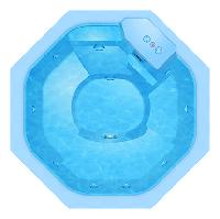 Композитный бассейн WaterWorld Баден - Размеры бассейна 2,00 x 2,00 x 0,90 м