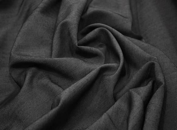 Джинсовая ткань летняя темно-серая, фото 2