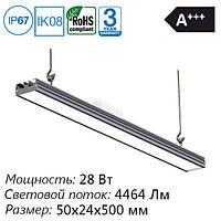 LED светильник промышленный 500 мм, 28 Вт, 4464 Лм