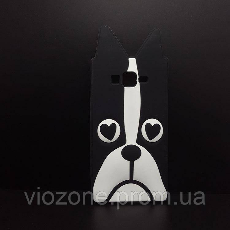 3d Чехол Бампер для Samsung Galaxy J7 2015 / J700  резиновая Собака