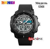 Гарантия! Подарок! Часы skmei 1361 черные